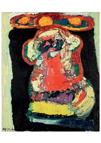crowned head by karel appel