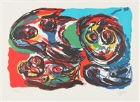untitled (four heads) / ohne titel (vier köpfe) by karel appel