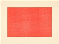 ohne titel - blatt 3 aus set of 4 woodcuts printed in brown, blue, red and green by donald judd