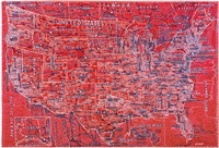 the united states (red) by paula scher