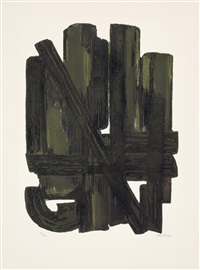 eau-forte viii by pierre soulages