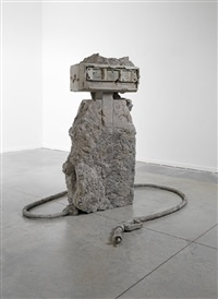 2 hose petrified petrol pump by allora and calzadilla