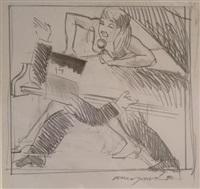 study for night fever by allen jones