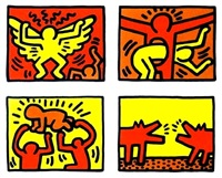 pop shop quad iv by keith haring