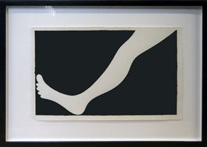 untitled (leg) by carl ostendarp