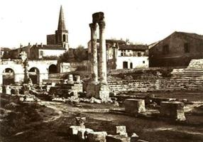théâtre romain à arles, neg. #128 by edouard-denis baldus