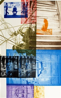 soviet / american array lll by robert rauschenberg