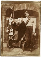 """the porthole"" (sergeant and private of the 42d gordon highlanders) by david octavius hill and robert adamson"