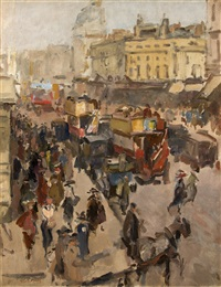 regent street, london by isaac israels