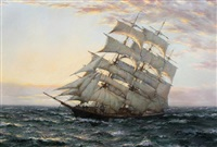 shun lee in the morning light by montague dawson
