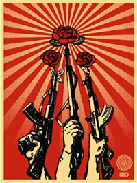 guns and roses by shepard fairey