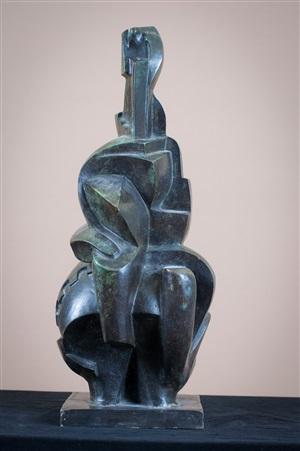 ohne titel, abstrakte figur by rudolf belling