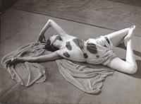 modernist study of a dancer reclining by brassaï