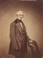 portrait of samuel b. morse by mathew b. brady