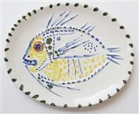 poisson fond blanc by pablo picasso