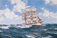 nearing home; the helicon by montague dawson