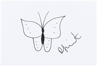 butterfly sketch by damien hirst