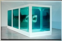the physical impossibility of death in the mind of someone living — lenticular by damien hirst