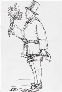young man with flowers 1924-2014 no. 2 by yang jiechang