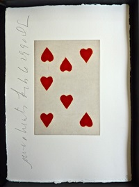 playing cards (seven of hearts) by donald sultan