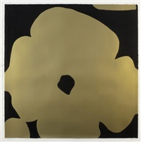 gold flowers (2011) by donald sultan