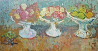 fruit bowls (trois compotiers de fruits) by louis valtat
