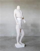 white bucket (synthesa) by erwin wurm