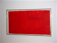 red open with white stripe by robert motherwell