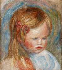 tête d'enfant (coco) by pierre-auguste renoir
