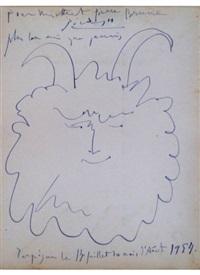 head of a happy faune / tete de faune heureux by pablo picasso
