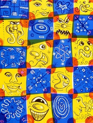 squaresville, 1996 by kenny scharf