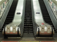 hiding in london no. 3 – underground escalators by liu bolin