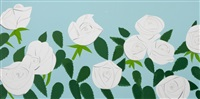 white roses by alex katz