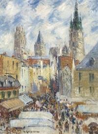 cathédrale de rouen, rue de l'épicerie by gustave loiseau