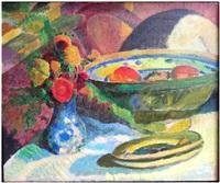 stillleben mit früchteschale by cuno amiet