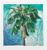 sky and palm tree head #1 by yutaka sone