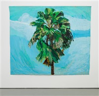 sky and palm tree head #4 by yutaka sone