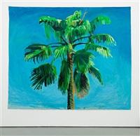 sky and palm tree head #5 by yutaka sone
