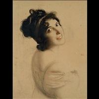 seitliches portrait einer dame mit haarband by franz von stuck