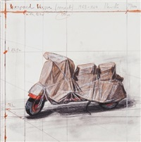 wrapped vespa project by christo and jeanne-claude