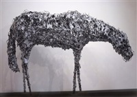 aluminum horse bowing by deborah butterfield