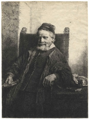 jan lutma, goldsmith by rembrandt van rijn