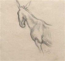 front half study of mule by thomas hart benton