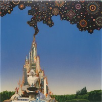 study for tower of peace towers by fred tomaselli