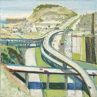 study for freeway by wayne thiebaud