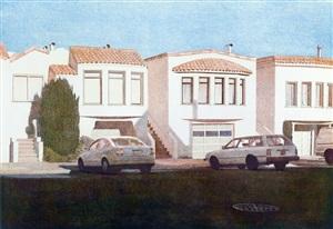 four houses on penn ave by robert bechtle
