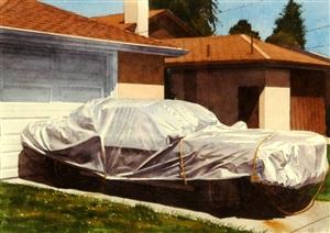 covered car high street by robert bechtle