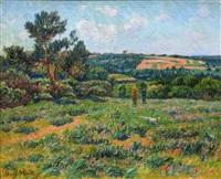a breton landscape by henry moret