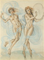deux nymphes by édouard chimot