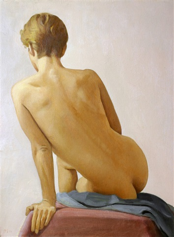 study for nude back: d.l. by ron schwerin